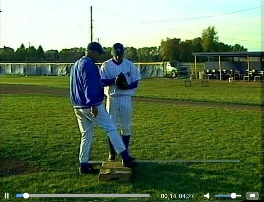 toe tap pitching drill