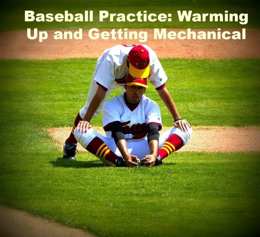 baseball practice stretching