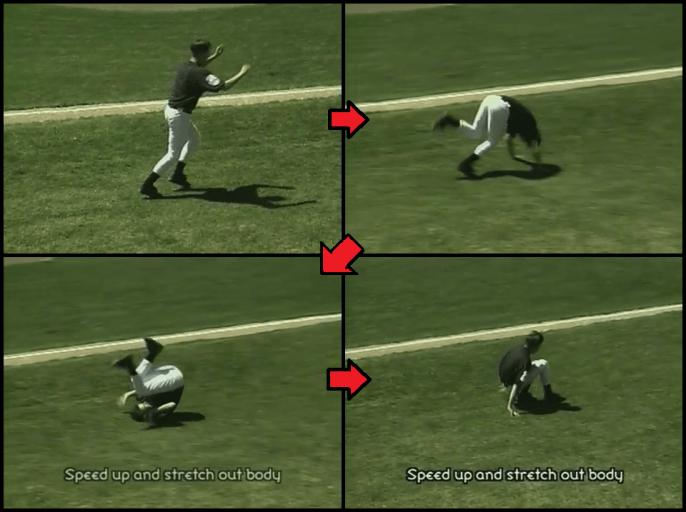 dive roll exercise for kids baseball