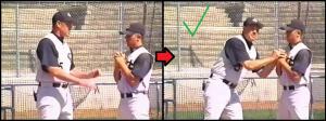 kids baseball hand position