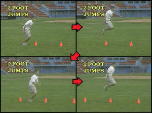 cone jumps baseball drill