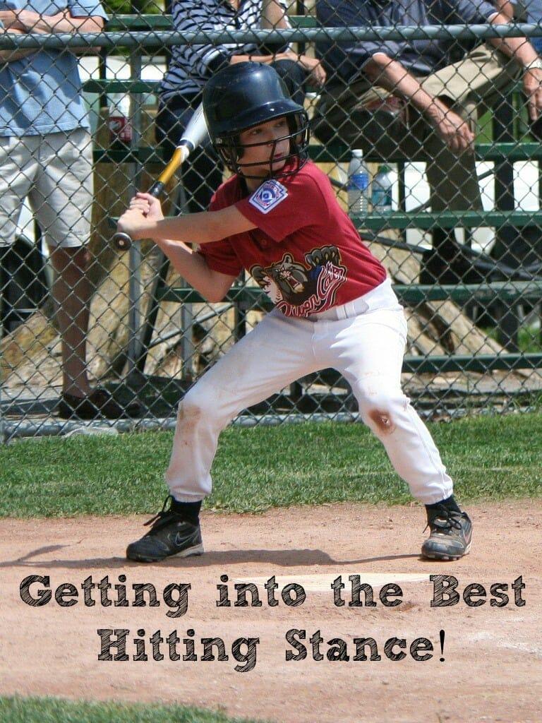 kids baseball hitting stance