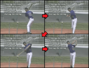 blind tee baseball hitting drill