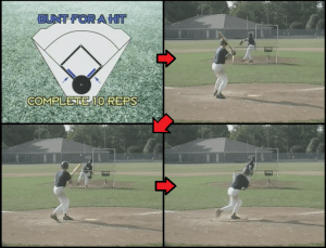 bunt for a hit youth baseball drill