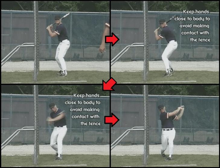 fence youth baseball drill