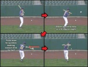 half bat baseball drill
