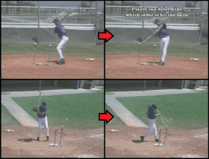 inside outside tee baseball drill
