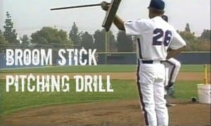 broom stick kids baseball drill