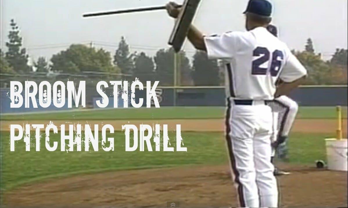 broom stick kids baseball drill