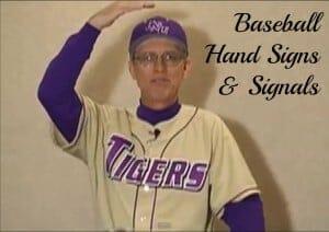 coaching baseball signals