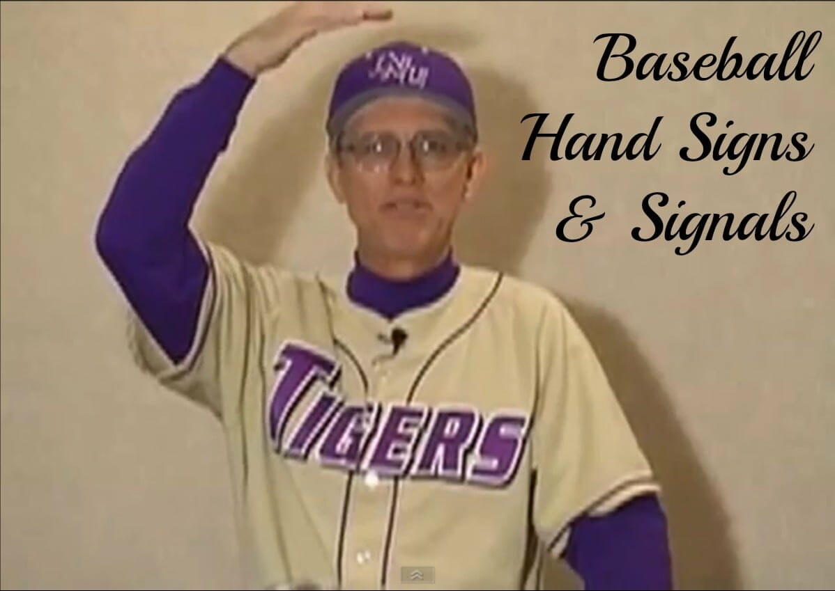 coaching baseball signals