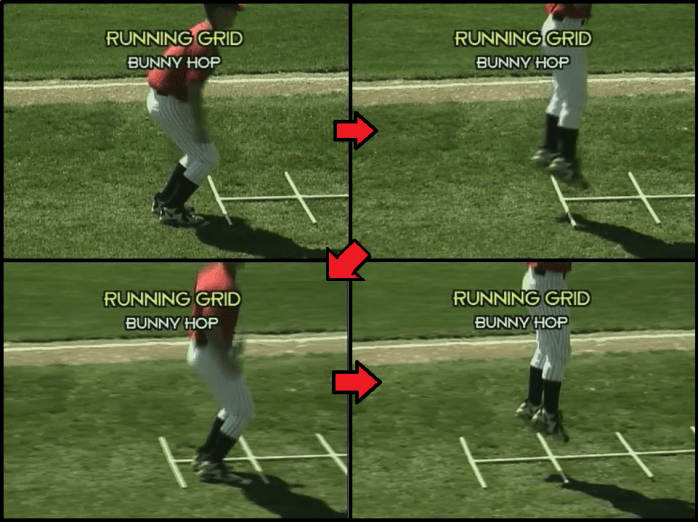 bunny hop youth baseball drill