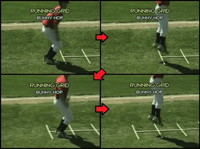 bunny hop youth baseball drill