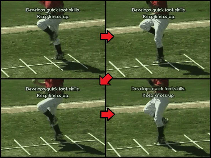 two feet one hole youth baseball drill