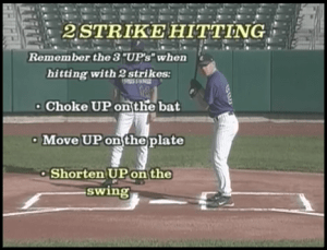 two strike hitting in kids baseball