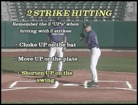 two strike hitting in kids baseball