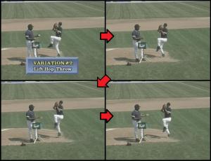 balance baseball pitching drill
