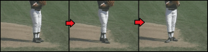 transfer step baseball pitching drill
