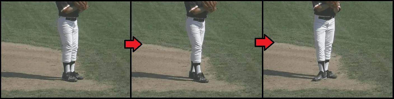 transfer step baseball pitching drill