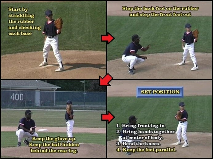 baseball tips set position