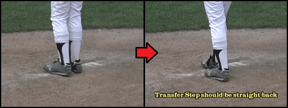 baseball tip transfer step pivot