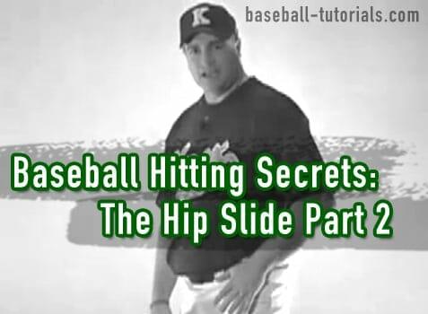 baseball hitting hip slide