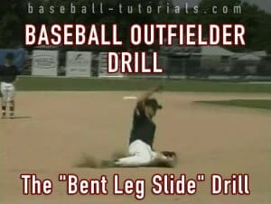 baseball outfielder drill bent slide