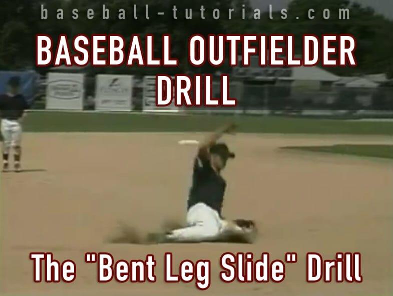 baseball outfielder drill bent slide