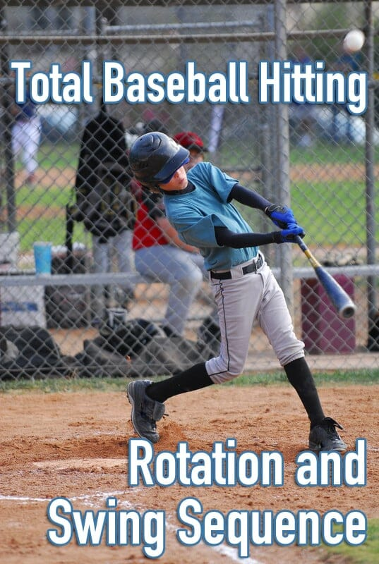 baseball hitting rotation and swing