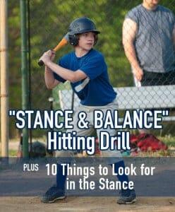 HITTING DRILL STANCE AND BALANCE