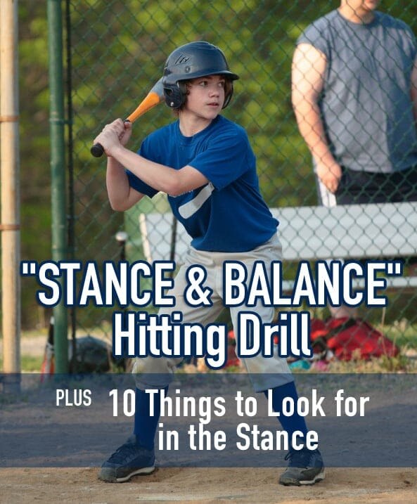 HITTING DRILL STANCE AND BALANCE