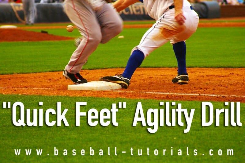 baseball agility drill quick feet