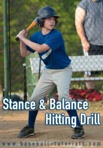 stnace and balance hitting drill