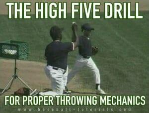 throwing mechanics high five