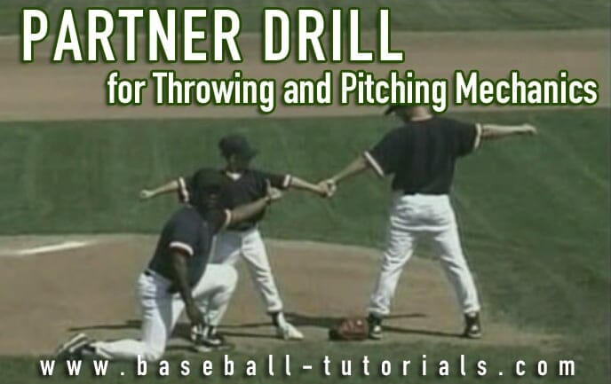 pitching mechanics partner drill