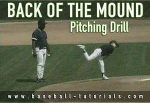back of the mound pitching drill
