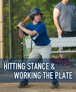 hitting stance and working the plate