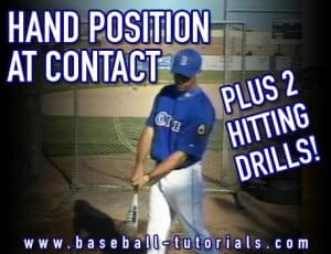 hand position at contact hitting drills