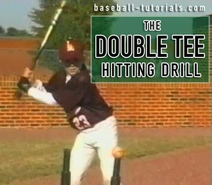 double tee hitting drill