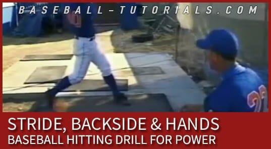 baseball hitting drill stride backside hands