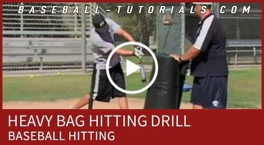 Heavy bag hitting drill