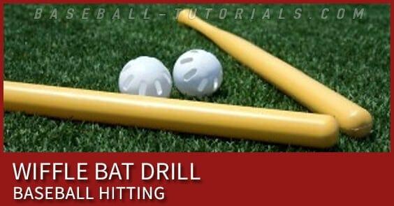 wiffle bat hitting drill