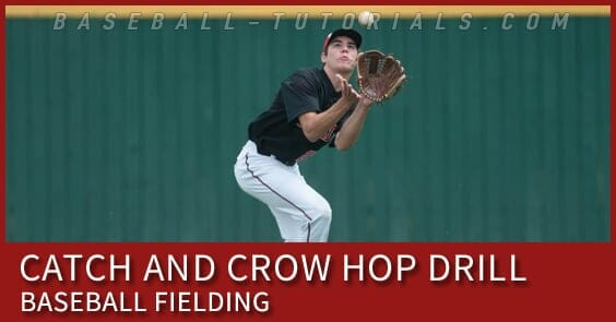 crow hop baseball fielding drill