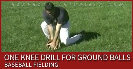 one knee baseball fielding drill