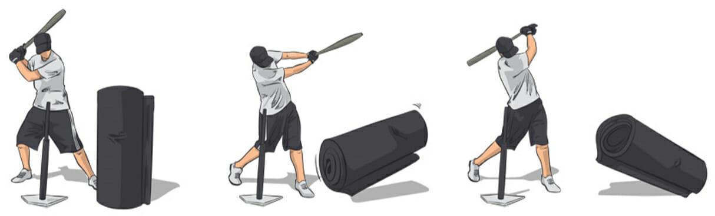 Heavy Bag Knockdown Hitting Drill Baseball Tutorials