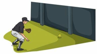 Wall Ball Baseball Fielding Drill