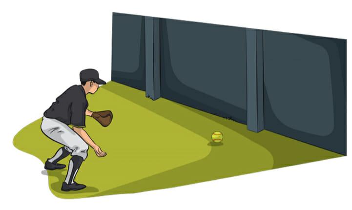 At Home Baseball Drills - Wall Ball Baseball Fielding Drill