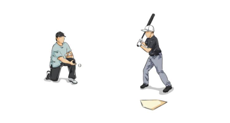 Back Toss Baseball Hitting Drill