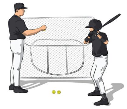 Drop Ball Baseball Hitting Drill