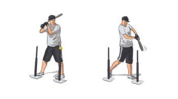 Two Tee Baseball Hitting Drill